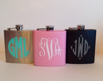 Personalized Vinyl Stainless Steel Flasks