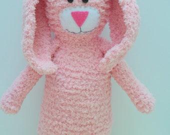 Bunny stuffed animal-Rosy pink-Easter bunny-Big plush toy