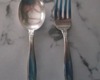 Baby Spoon and Fork set - International Sterling - Prelude