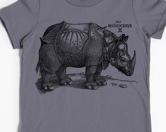 Children's T-shirt - Rhinoceros Shirt - Rhino Tshirt - Animal Shirt - Graphic T-shirt
