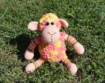 Stuffed animal Plush toy Amigurumi toy Stuffed sheep Crochet amigurumi Knitted sheep Crochet toy Knitted toy Nursery decor Gift idea Hobbes
