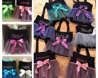 Personalized Tutu Tote Bag