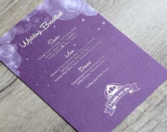 Enchanted Fairytale Menu Card