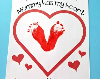 """Mother's Day Printable """"Mommy Has My Heart"""""""
