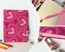 Handmade Violetta diary with lock