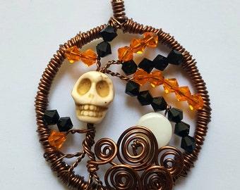 Swarovski Halloween Tree Pendant