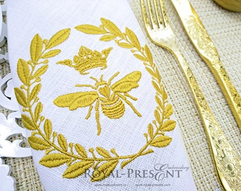 Machine Embroidery Design Royal Bee | Napoleonic bee