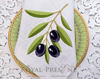 Machine Embroidery Design Black Olives - 2 sizes