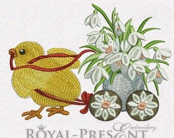 Machine Embroidery Design - Easter Chicken #5