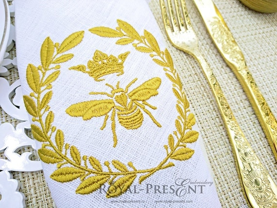 Machine embroidery design royal bee napoleonic
