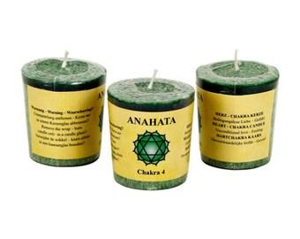 Heart Chakra Aromatherapy Votive Candle - Chakra Balancing, Balance, Energy Healing, Unconditional Love, Unity Consciousness, Compassion