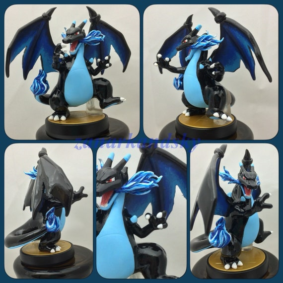 Custom amiibo - Pokemon Mega Charizard X