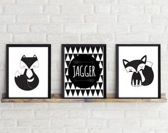 Baby, Kids Custom name Wall Art ~ Set of 3