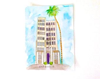 Custom Home Portrait, Custom Home Painting, Custom Home Watercolor, Original Watercolor, House Painting, Apartment Painting