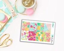 Sale 50% off Tropical Sparkle Full Box Planner Stickers for Erin Condren [KIT35.2]