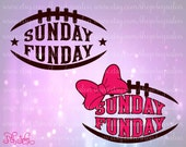Sunday Sunday Super Bow / Fan Football Vinyl Shirt Decal Cutting File / Clipart Set in Svg, Eps, Dxf, Png, and Jpeg for Cricut & Silhouette
