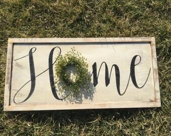 Rustic Home Sign - Wood Sign - Wood Signs - Home Sign - Rustic wood sign - Rustic Decor - Rustic Sign - Wood Wall art - Wall Hanging - Sign