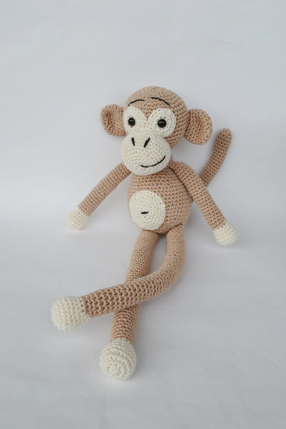 Amigurumi Monkey Etsy : Items similar to Monkey amigurumi doll, Crochet monkey ...