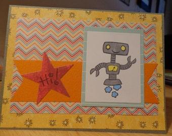 Friendly robot card