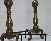 Set of Victorian style Brass & Iron Fireplace Andirons