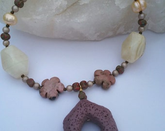 Autumn's Gems Necklace and Earring set.