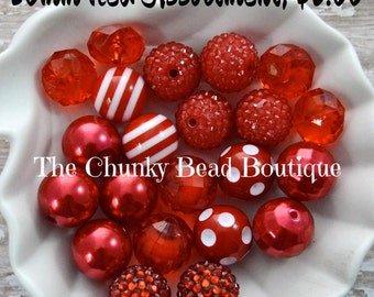 20mm red bead assortment