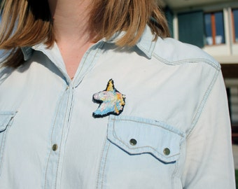 Embroidered Unicorn brooch