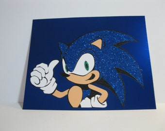 Sonic the Hedgehog inspired wall art