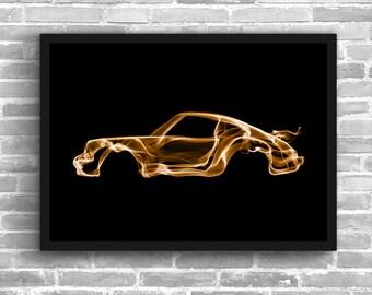 Porsche 911 Turbo Porsche 911 Art Wall Art Supercar Man Cave Gift For Him Automotive Art