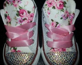 Floral Sparkle Converse