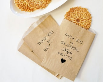 Bridal Shower Cookie Bags Baby Kraft Paper Bakery Favors