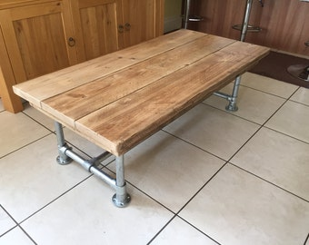 scaffold plank urban industrial coffee table