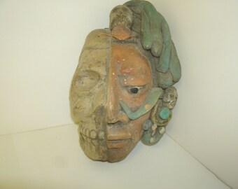 Half Skull/Half Inca Mask