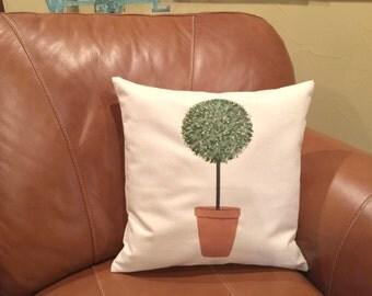 Throw Pillows/Topiary/Topiary Pillow/Spring Decor/Garden Decor/Pillow/Couch Pillows/Sofa Pillows/Decorative Pillows