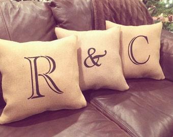 Throw Pillows/Initial Pillows/Initials/Letter Pillows/Letters/Pillows/Personalized Pillow/Couch Pillows/Sofa Pillows