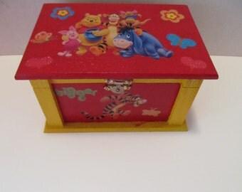 Kids Jewelry Box, Girls Jewelry Box, Children Jewelry Box, Birthday Gift, Girls Room Decor, Winnie the Pooh, Gifts for Girls, Gifts for kids