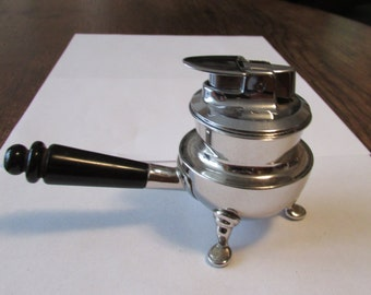 Ronson Table Lighter Vintage Footed Handle Lighter