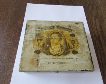 Vintage Metal Cigar Box Tin Robert Emmet