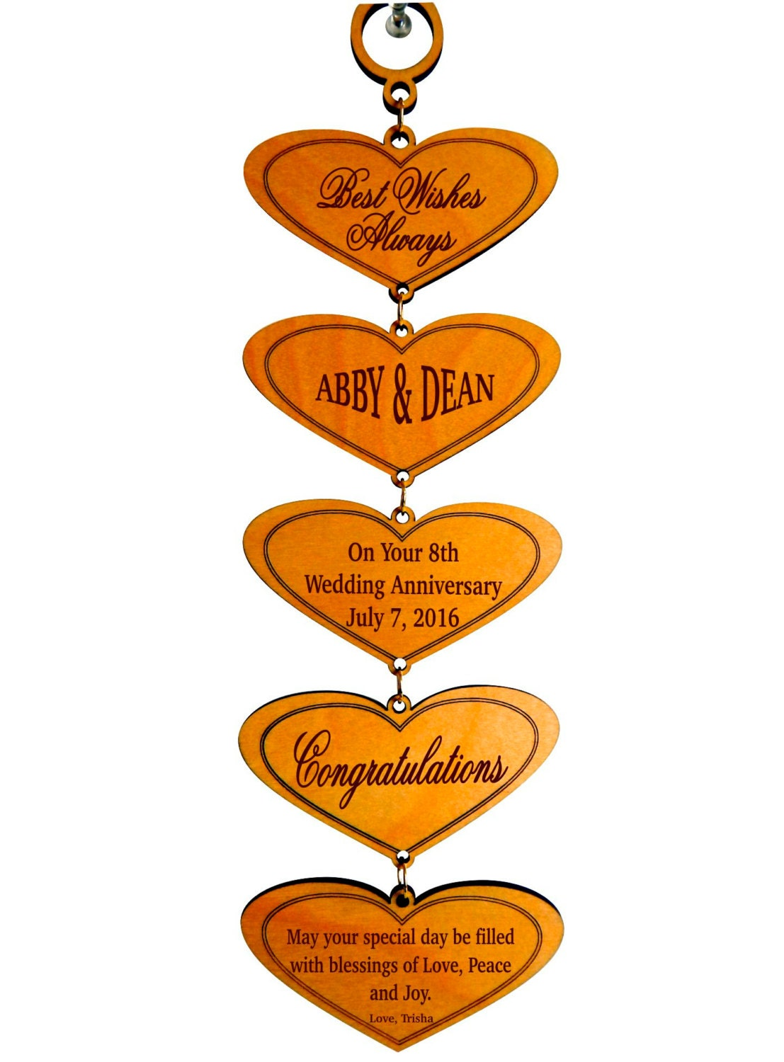 8th Wedding Anniversary Custom GiftHappy Marriage Wishes