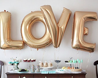 Wedding Wedding Decor LOVE balloons Gold Foil Letter Balloons Wedding  Bridal Shower Engagement Party Wedding Super Jumbo Balloons