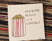 Reality Is A Construct Tiny Painting
