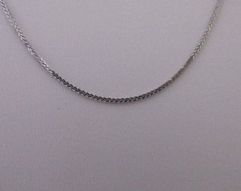 14K Solid White Gold Foxtail Chain