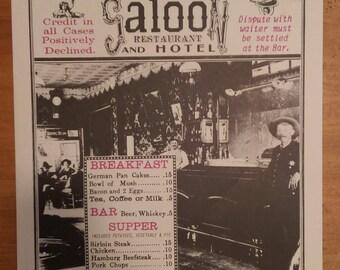 Vintage Cosmopolitan Saloon and Hotel Poster