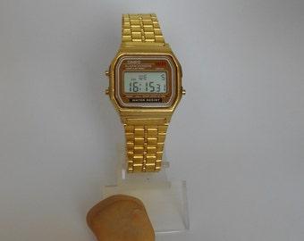 vintage watches women men gold casio watch 1980s retro unisex vintage rare jewelry