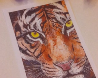 "The Tiger 5""x7"" Art print."