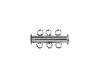 Round Bar Clasp 3 Strand-Sterling Silver (#5553)