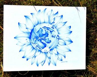 Sunflower Moon Print