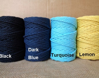 50meters of 3mm (5mm width) Twisted Cotton Rope