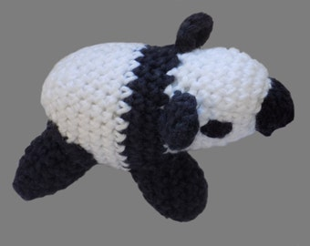 amigurumi , figure , panda , crochet , white , black