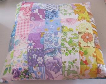 vintaged squares cushion